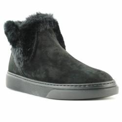hogan boots fourrées noir