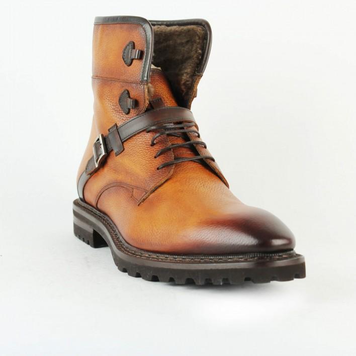 zampierre boots cuir camel