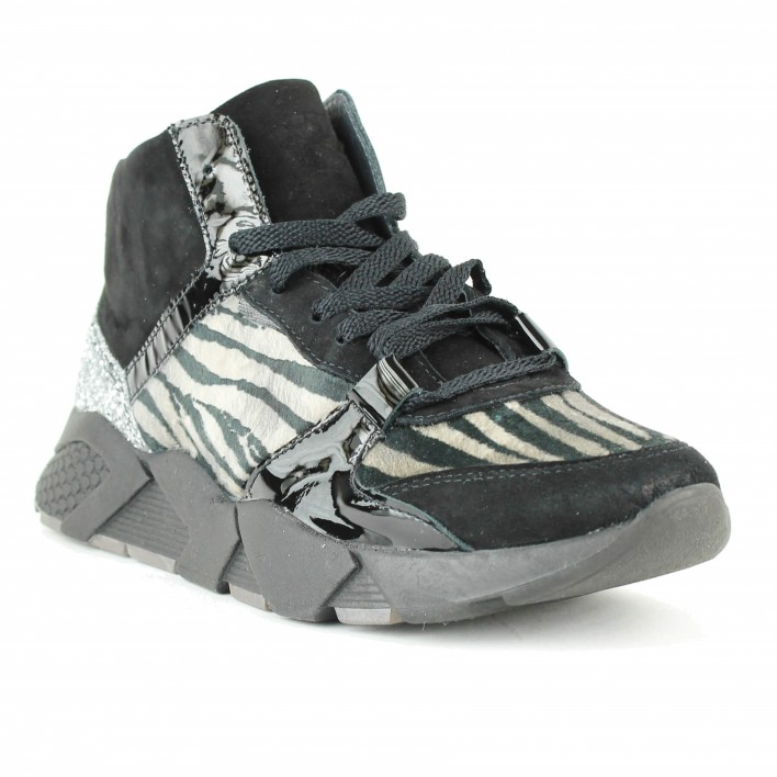 philippe morvan sneakers zèbre noir