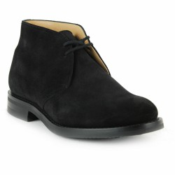 church's derby velours noir