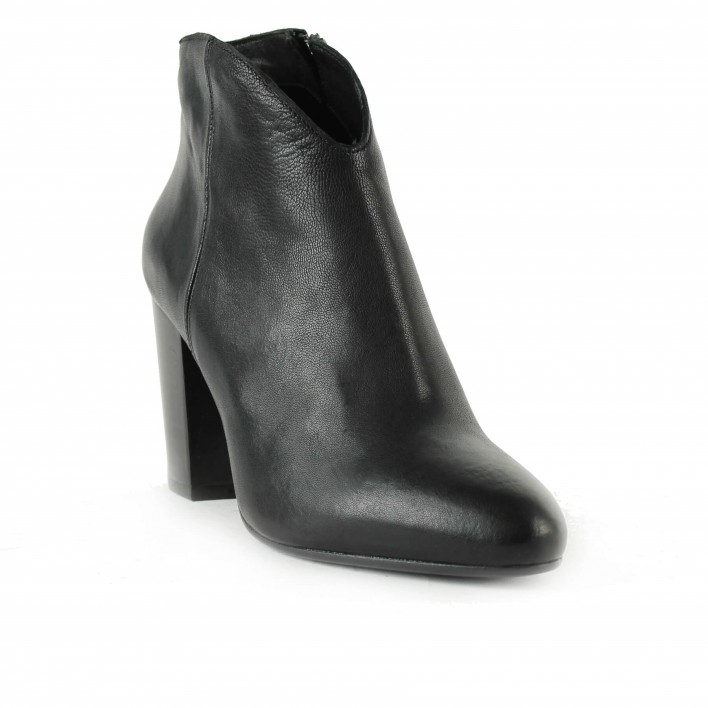 anima boots cuir noir