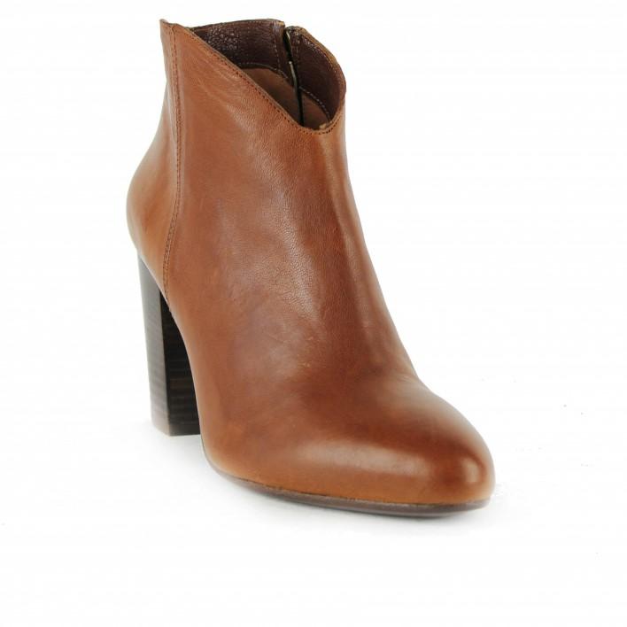 anima boots cuir camel