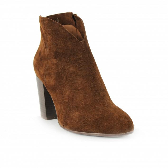 anima boots velours camel