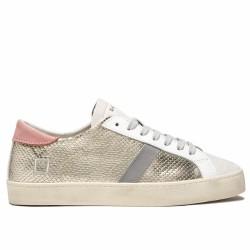 d.a.t.e sneakers cuir doré