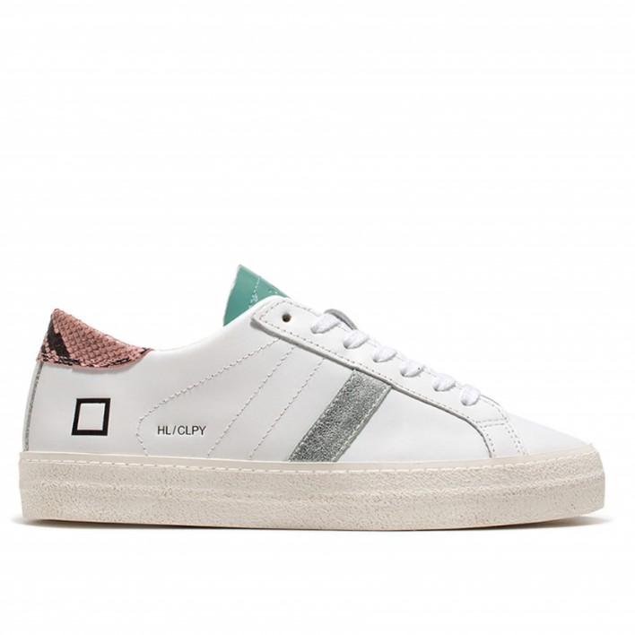 d.a.t.e sneakers cuir python rose