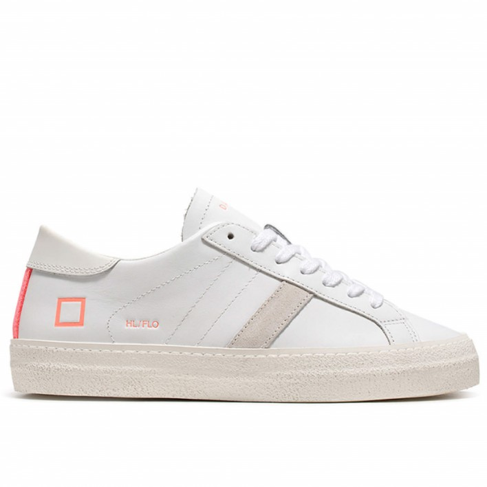d.a.t.e sneakers cuir rose fluo