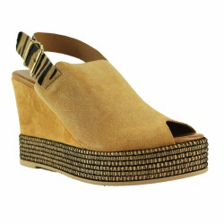sandales veau velours animal