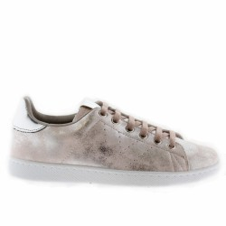 victoria tennis cuir rose