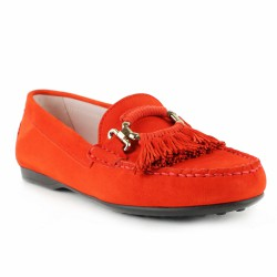 triver flight mocassion velours corail