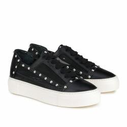 agl sneakers noires à clous