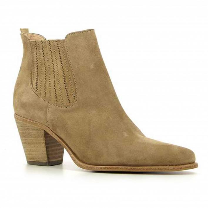 Muratti - RESEDA - Boots type santiag en velours - taupe