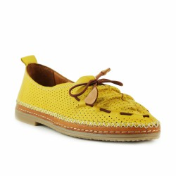 coco & abricot mocassin cuir jaune