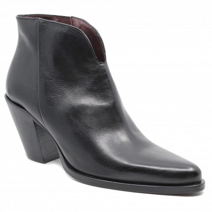 Muratti - RAMBURES - Low-boots en cuir style santiag zippées - noir