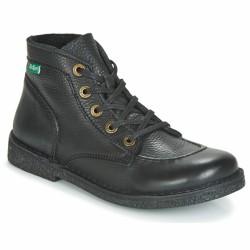 kickers boots cuir noir