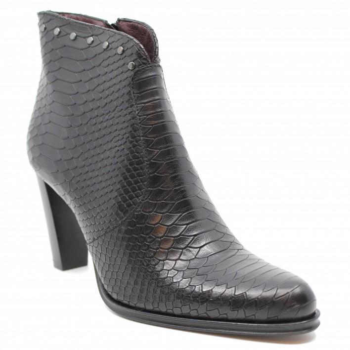 Muratti - RANSON - Boots à talons effet python - noir