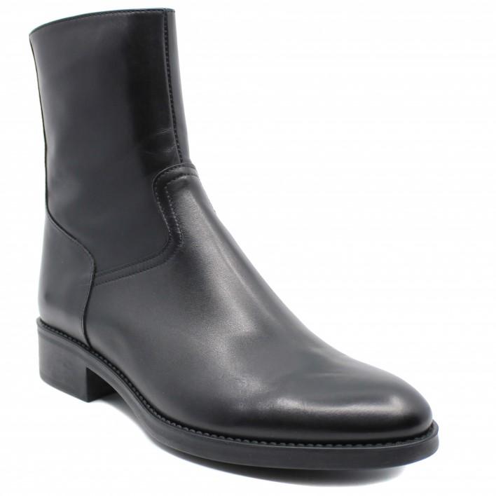 Triver Flight - Boots plates en cuir zippées