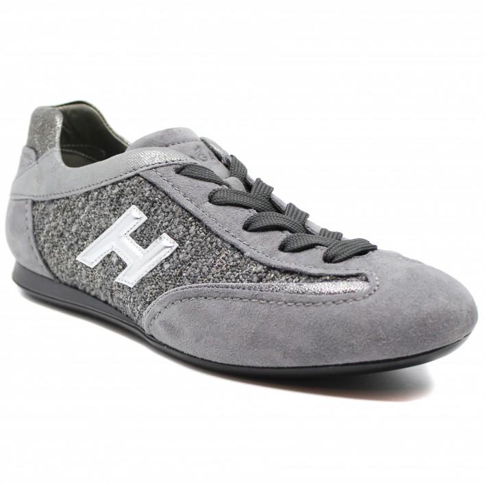 Hogan - OLYMPIA-FEM-3D - Tennis en tweed - gris