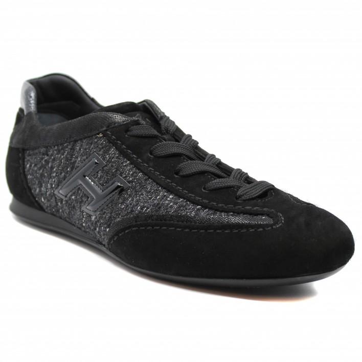 Hogan - OLYMPIA-FEM-3D - Tennis en tweed - noir
