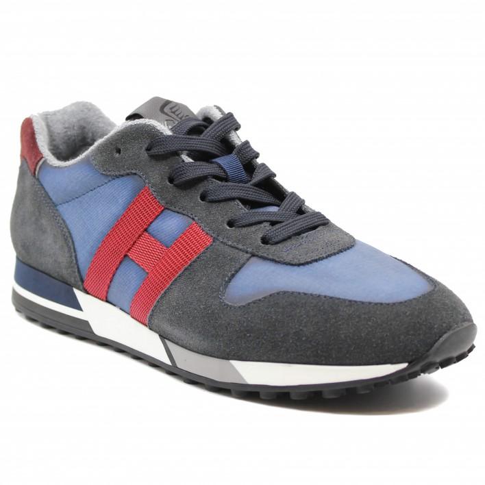 Hogan - H383-NASTRO - Sneakers tricolores - gris/rouge/bleu