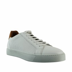 triver flight baskets en cuir blanc