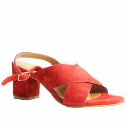 atelier tropézien sandales à talon rouge