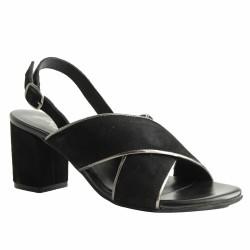 atelier tropézien sandales à talon noires