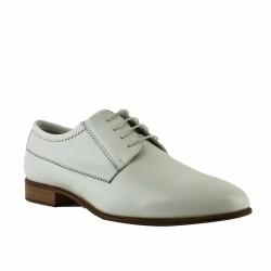 pertini derby cuir blanc