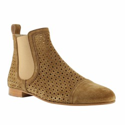 pertini boots velours perforé