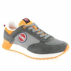 colmar sneakers grises et orange