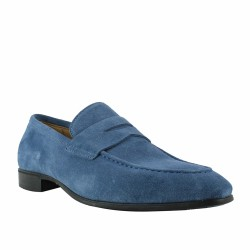 giorgio mocassin velours bleu