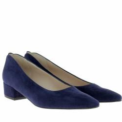 parallèle escarpins velours bleu