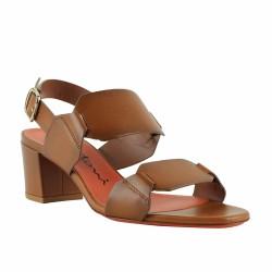 santoni sandale gold à talon