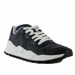 voile blanche running bleues